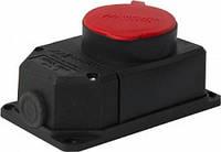 Силовая розетка стационарная с защитной крышкой каучуковая e.socket.rubber.062.16, 4п., 16А, фото 1