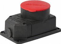 Силовая розетка стационарная с защитной крышкой каучуковая e.socket.rubber.072.32, 4п., 32А, фото 1