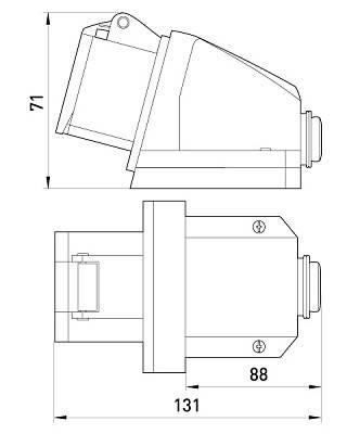 Силовая розетка стационарная e.socket.pro.3.16, 3п., 220В, 16А (113), фото 2