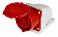 Силовая розетка стационарная e.socket.pro.5.32, 5п., 380В, 32А (125), фото 1