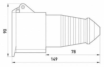 Силовая розетка переносная e.socket.pro.3.32, 3п., 220В, 32А (223), фото 2