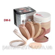 Компактная многоуровневая пудра корректор для лица на рисовой основе 6 color in 1 set Christian DM-6