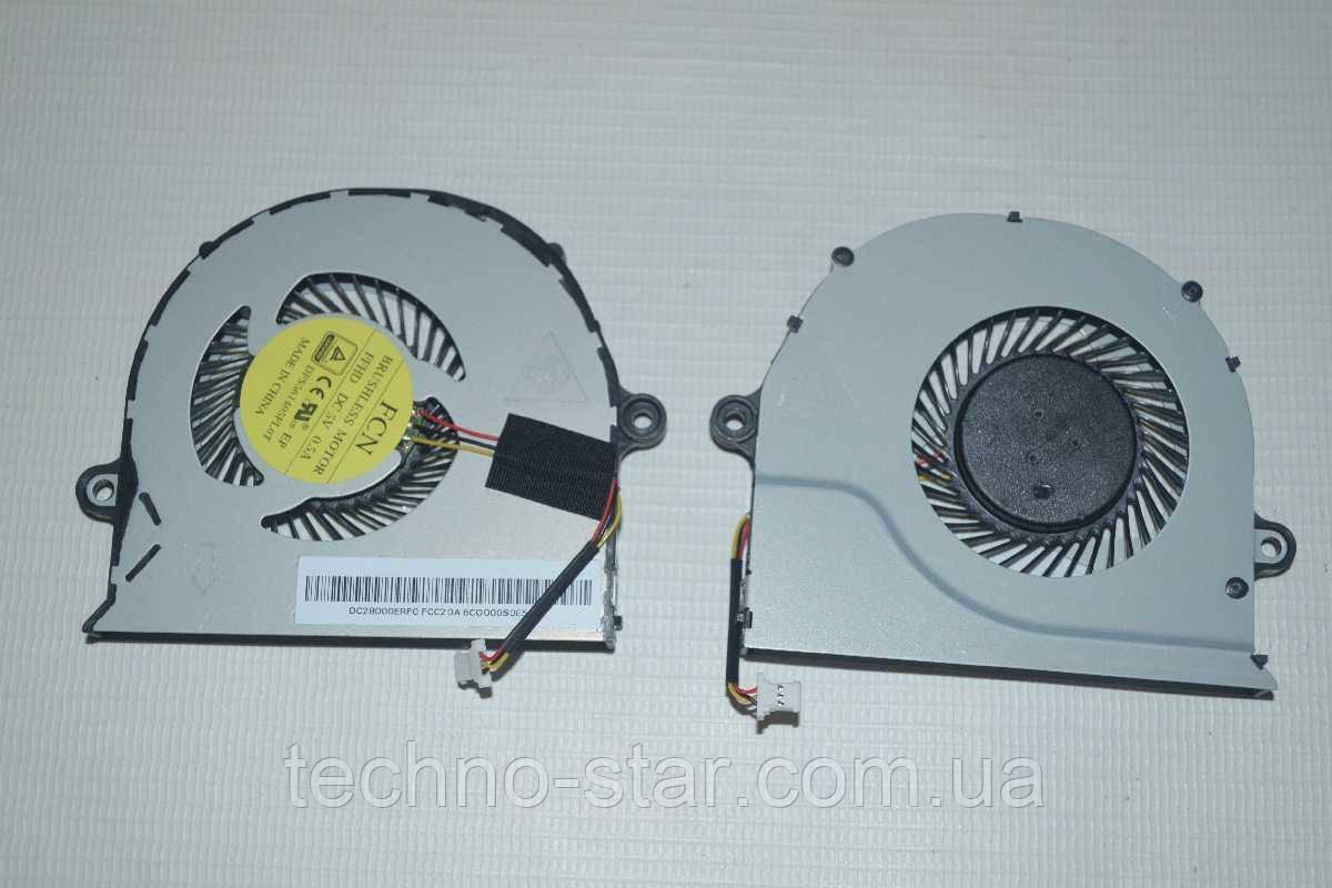 Вентилятор (кулер) FCN DFS561405FL0T для Acer E5-571 E5-572 E5-573 CPU FAN