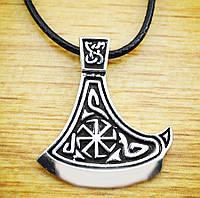 Кулон серебряный Секира Перуна с Коловратом, фото 1