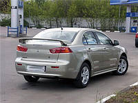 Спойлер Mitsubishi Lancer 10 (под завод) стеклопластик Orticar