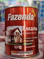 """Эмаль ПФ-115 """"ФАЗЕНДА"""" зеленая 0,9 кг (2000000108353)"""