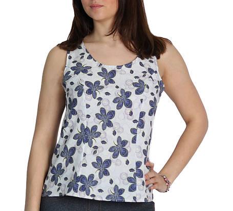 """Жіноча блуза - безрукавка """"Tasani"""" квітковий принт, фото 2"""