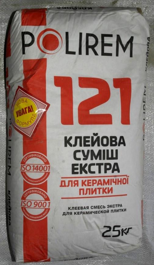 Клей POLIREM СКп-121 25 кг (48) для теплых полов, каминов, лестниц, бассейнов, камня (2000000052816) - Покров - база строительных материалов в Сумах