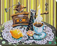 Набор для вышивки бисером на холсте «Кофе с лимоном»