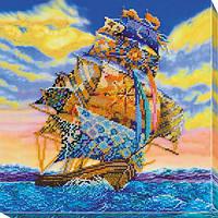 Набор для вышивки бисером на холсте «На всех парусах»