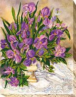 Набор для вышивки бисером на холсте «Цветочное кружево»