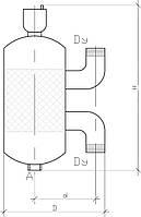 Вертикальный сепаратор воздуха и шлама KVANT DisAir