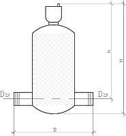 Вертикальный проходной сепаратор воздуха KVANT DisAir
