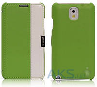 Чехол iCarer Side Open colorblock for Samsung N9000 Galaxy Note 3 Green+White (RS900002GW)