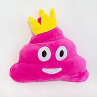 Мягкая игрушка смайлик emoji Принцесса какашка 16см
