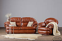 "New! Мягкий кожаный диван ""Orlando"" (Орландо) (226см)"