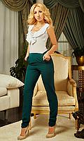 Женский комбинезон от производителя белый+зеленый Размеры:  S,М, Л, ХЛ, ХХЛ, 52