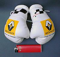 Боксерские перчатки в машину на стекло сувенир брелок  Renault