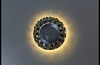 точечный светильник (спот)cо встроенной LED подсветкой A129 Black