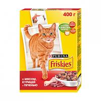 Сухой корм Friskies для кошек с мясом, курицей и печенью 0,3КГ