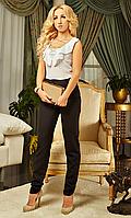 Женский комбинезон с белой блузой и черными брюками размеры:  S,М, Л, ХЛ, ХХЛ, 52