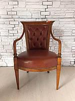 Кожаное кабинетное кресло, каминное.