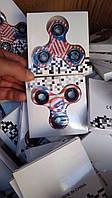 Антистрессовая игрушка американский флаг,  Fidget Spinner металлокерамический