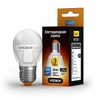 LED лампа VIDEX G45 5W E27 4100K 220V, фото 1