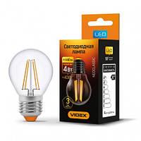 LED лампа VIDEX  G45F 4W E27 3000K 220V, фото 1