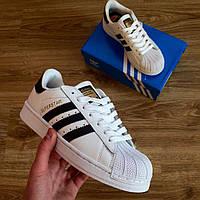 Белые Женские Кроссовки Adidas Superstar арт.1021