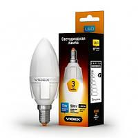 LED лампа VIDEX C37 5W E14 4100K 220V, фото 1