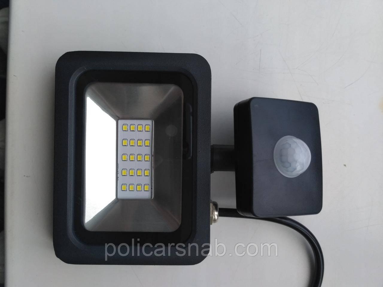 Прожектор LED 10w 6500K LEMANSO с датчиком / LMPS12