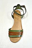 Зеленые кожаные сандалии , фото 1