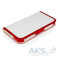 Чехол Macally Slim Folio Case and Stand Apple iPhone 5, iPhone 5S, iPhone SE Red-White (SCASER-P5)