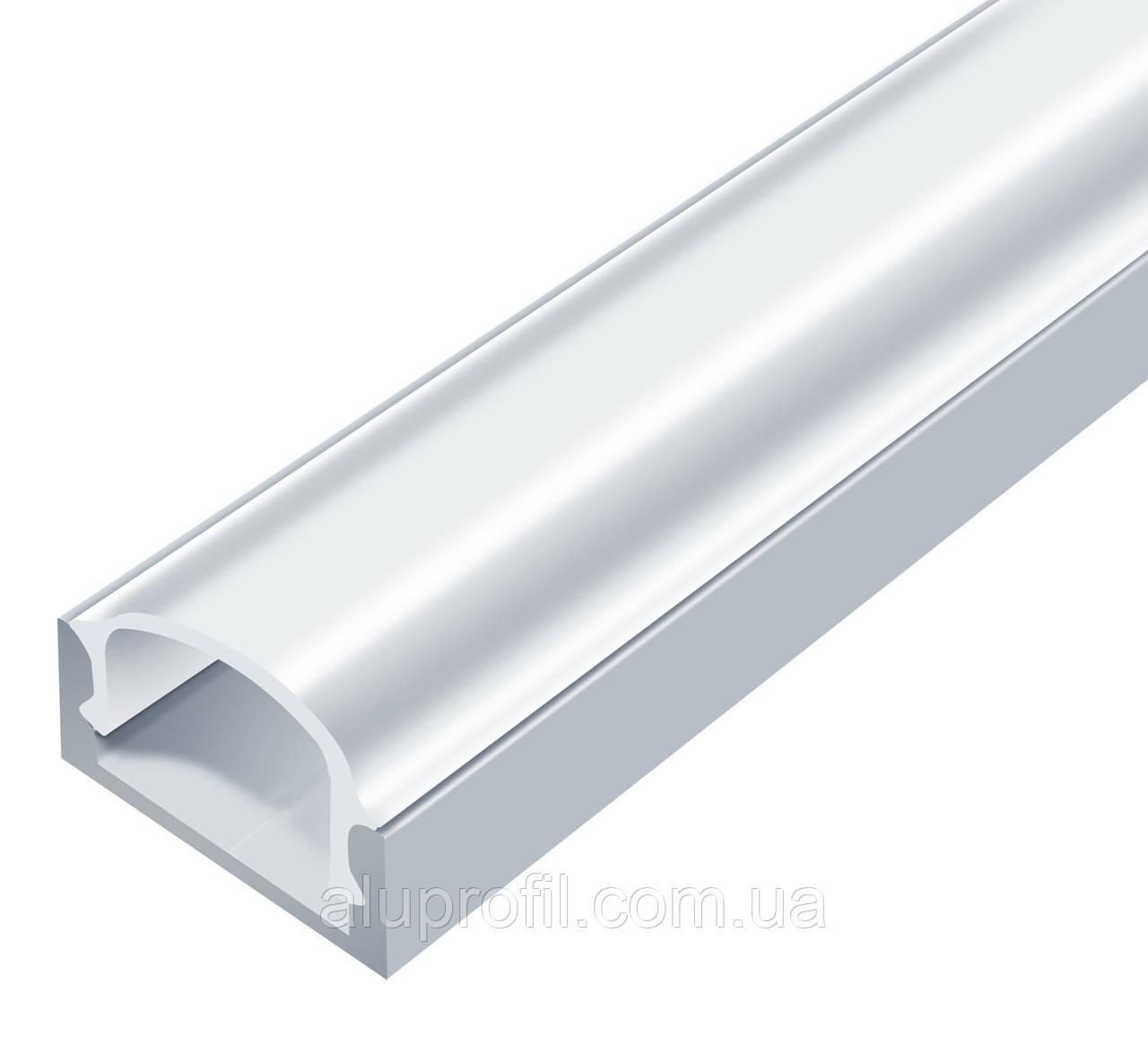 Линза (светорассеиватель) для LED профиля Z000 прозрачная