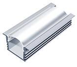 Рассеиватель (линза) для светодиодного (LED) профиля поликарбонат прозрачный, фото 3