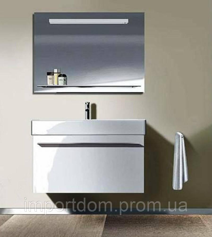 Комплект мебели Duravit тумба + умывальник + сифон + зеркало, фото 1