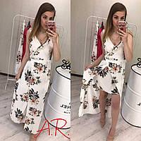 Платье в пол. размер М Л ХЛ цвет белый