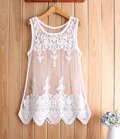 Молодежное ажурное пляжное платьеце