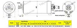 Шпиндель для ЧПУ 1.5 kw  ER11 80мм водяное охлаждение, фото 3