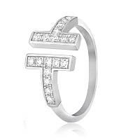 """Серебряное кольцо с фианитом  в стиле  """"Tiffany"""" К2Ф/179"""
