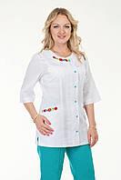 Медицинский женский костюм комбинированый с голубыми штанами