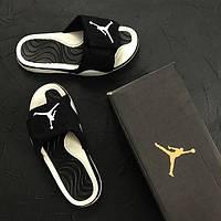 Шлепанцы женские Slippers Jordan 15121 черно-белые