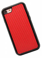 2 in 1 tpu+pc carbon fiber case for iPhone 7 Red