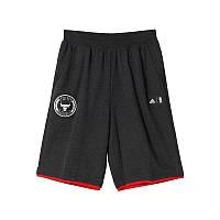 Шорты баскетбольные мужские adidas Short Chicago Bulls M AH5053 (темно серые, хлопок, с логотипом адидас) , фото 1