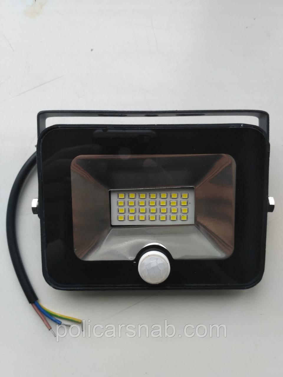Прожектор LED 10w 6500K LEMANSO с датчиком / LMPS15