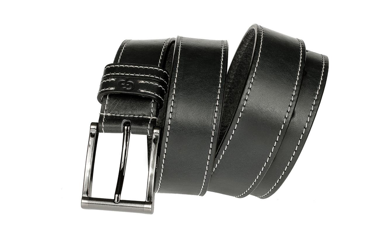 Кожаный Ремень Blazer, чёрный прошитый