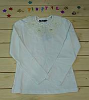 Блуза  на девочку рост 128-164 цвет белый и крем
