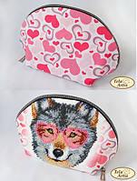 Схема для вышивания бисером косметички Гламурный волк