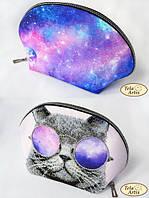 Схема для вышивания бисером косметички Космос в очках